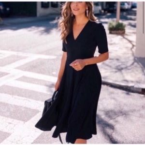 NEW Gal meets glam Edith fit & flare black dress 4
